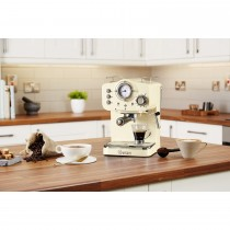 Swan Pump Espresso Coffee Machine, Cream
