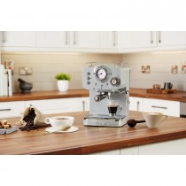 Swan Pump Espresso Coffee Machine, Grey