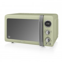 Swan 800w Digital Microwave, Green