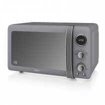 Swan 800w Digital Microwave, Grey