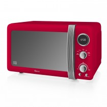 Swan 800w Digital Microwave, Red