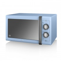 Swan 900w Manual Microwave, Blue