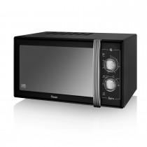 Swan 900w Manual Microwave, Black