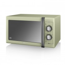 Swan 900w Manual Microwave, Green