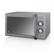 Swan 900w Manual Microwave, Grey