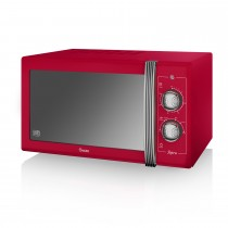 Swan 900w Manual Microwave, Red