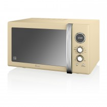 Swan 25l Digital Combi Microwave, Cream
