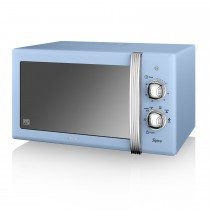 Swan 800w Manual Microwave, Blue