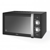 Swan 800w Manual Microwave, Black