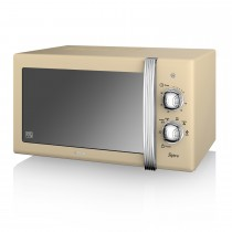 Swan 800w Manual Microwave, Cream