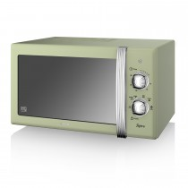 Swan 800w Manual Microwave, Green