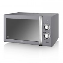 Swan 800w Manual Microwave, Grey