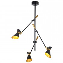Diablo 3 Light Led Ceiling, Matt Black And Gold