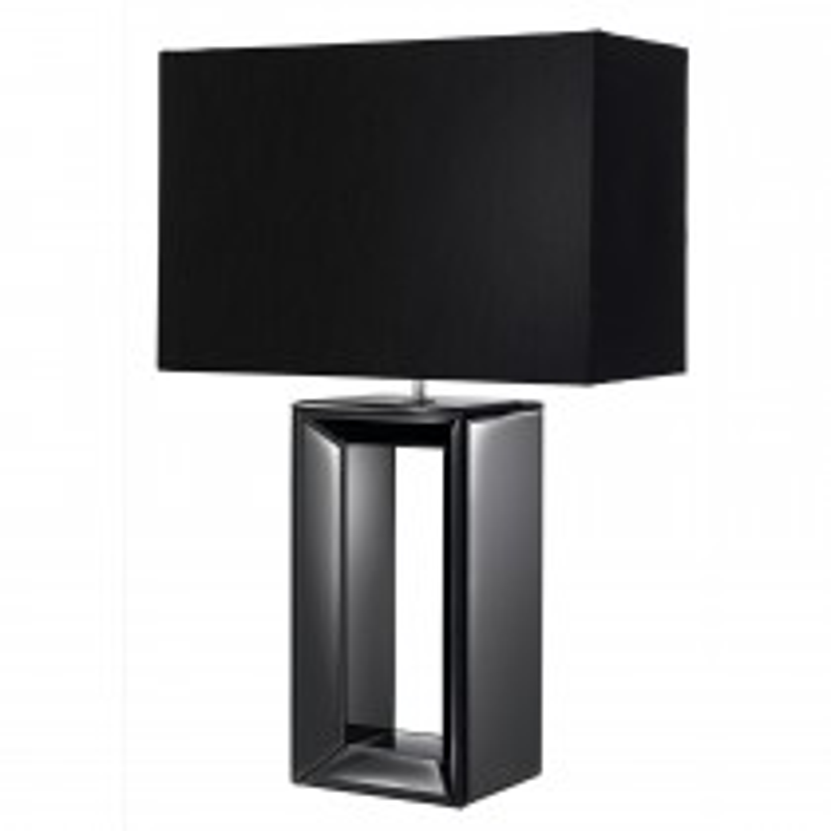 Searchlight Mirror Table Lamp, Mirror/Black
