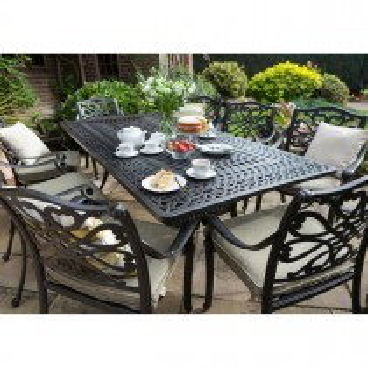 Hartman Capri Outdoor Dining Set, 8 Seater, Bronze/Wheatgrass