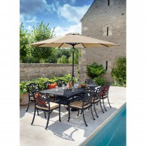 Hartman Capri Outdoor Dining Set, 8 Seater, Bronze/Wheatgrass