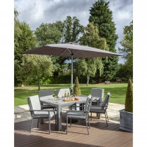 Hartman Titan Outdoor Dining Set, 6 Seater, Seal/Pewter
