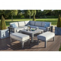 Hartman Titan Outdoor Corner Lounge Set, Seal/ Pewter