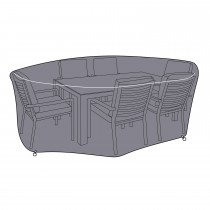 Hartman Casa Round Protective Cover, 6 Seater, Black