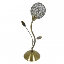Searchlight Bellis II Table Lamp, Antique Brass/Clear