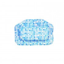 Croydex Mosaic Standard Pillow, Blue