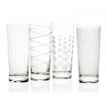 Mikasa Cheers High Ball Glasses, Clear