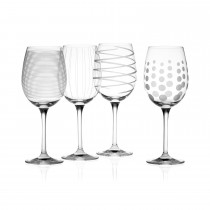 Mikasa Cheers White Wine Glasses, Clear