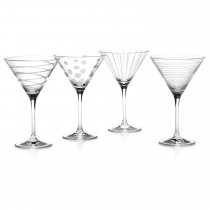 Mikasa Cheers Martini Glasses, Clear