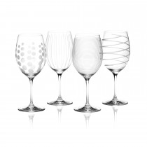 Mikasa Cheers Red Wine Glasses, Clear
