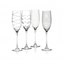 Mikasa Cheers Flute Glasses, Clear