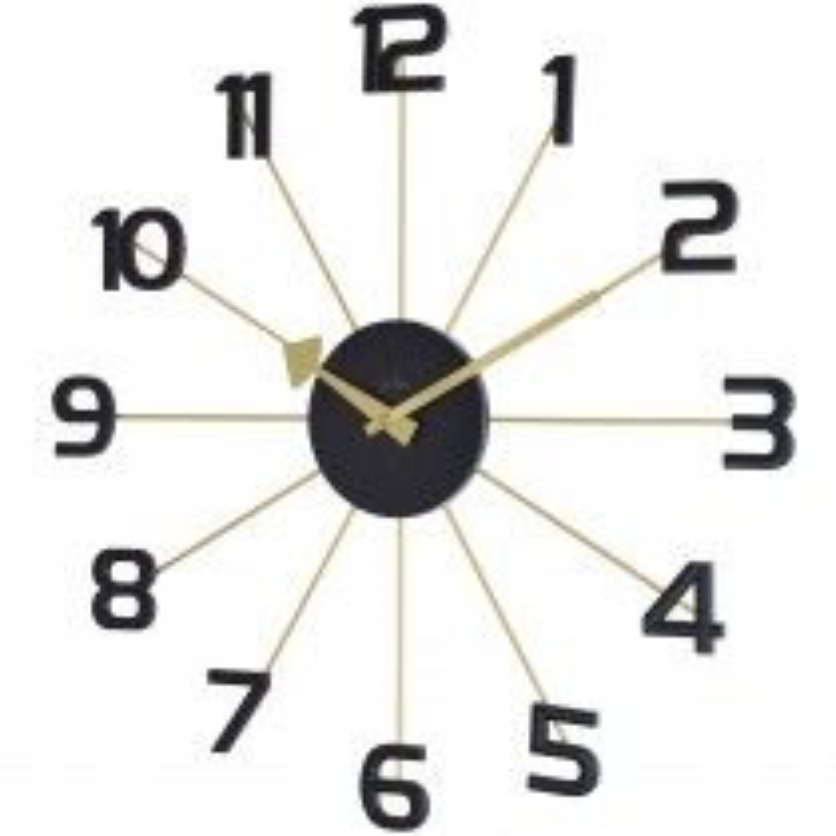 Acctim Astraea Spoke Wall Clock, Black/gold Effect