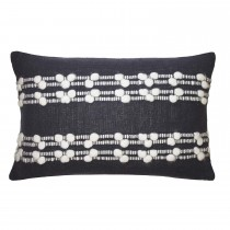 Fat Face Sai Feather Filled Cushion, Charcoal