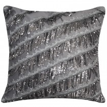 Kylie Minogue Eliza Polyester Filled Cushion, 50cm x 50cm, Pewter