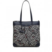 Radley Dash Leaf Shoulder Bag, Large, Ink