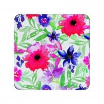 Denby Watercolour Floral Coasters, Red