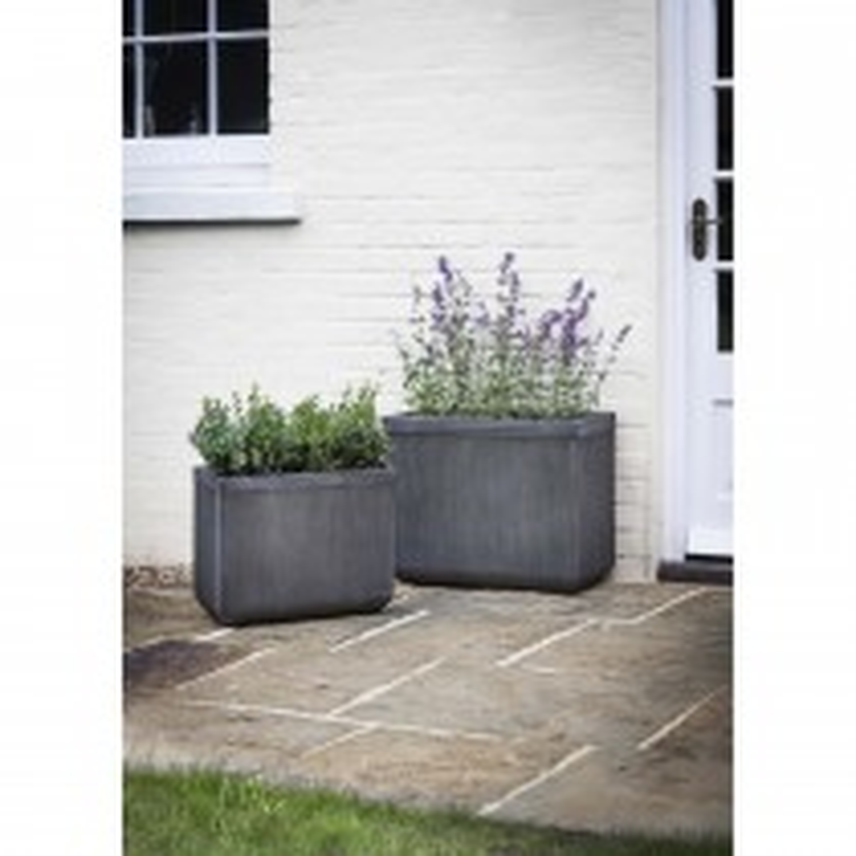 Garden Trading Bathford Rectangular Planter, Fibre Clay