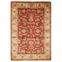 """Frith  Knotted Indo-persian Shervan Rug 4'0"""" x 2'0"""""""