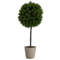 Casa Pine Ball Tree In Pot 63cm, Green