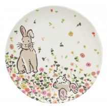 Cath Kidston Bamboo Bunny Meadow Plate, Off White