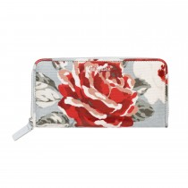 Cath Kidston Continental Zip Wallet, New Rose Bloom