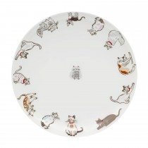 Cath Kidston Squiggle Cats Dinner Plate, Off White