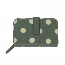 Cath Kidston Folded Zip Wallet, Button Spot