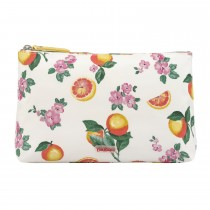 Cath Kidston Matt Zip Cosmetic Bag, Grapefruit Bloom