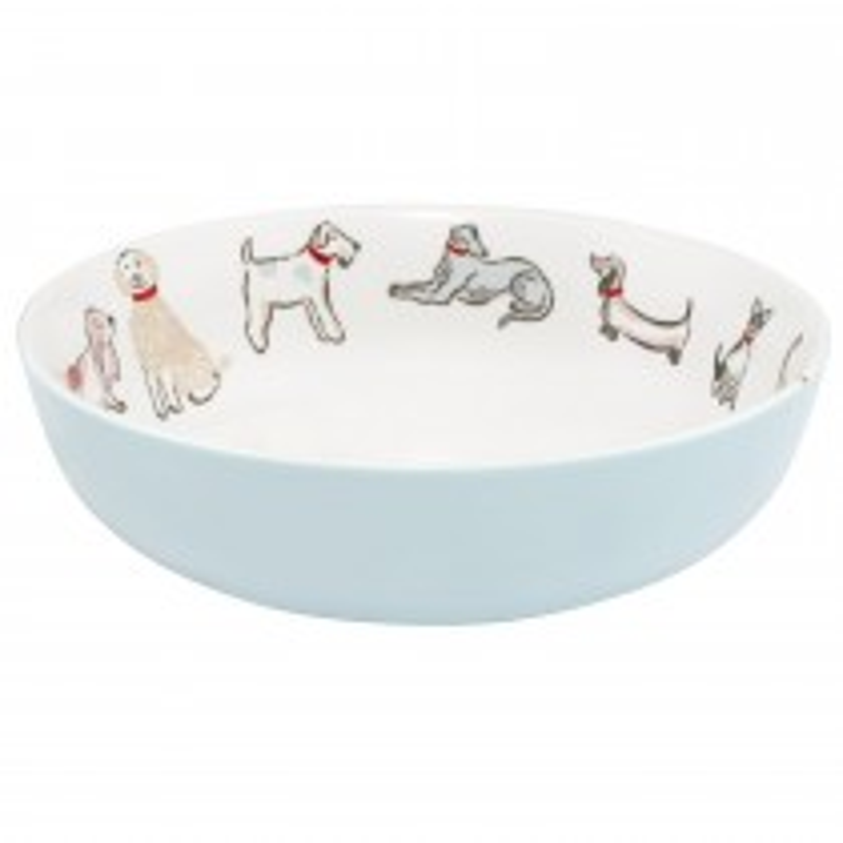 Cath Kidston Squiggle Dogs Pasta Bowl, Off White