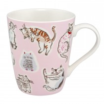 Cath Kidston Squiggle Cats Stanley Mug, Off White
