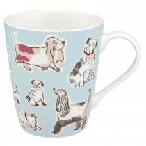 Cath Kidston Squiggle Dogs Stanley Mug, Off White