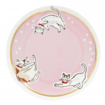 Cath Kidston Squiggle Cats Tea Plate, Off White