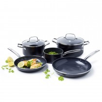 Greenpan Berlin Black 5 Piece Cookware Set, Black