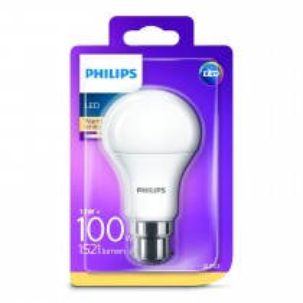 Phillips 100w A60 Classic LED B22 Light Bulb, Warm White