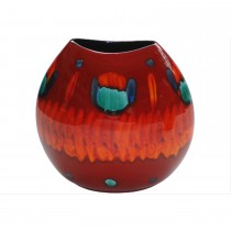 Poole Pottery 26cm Volcano Purse Vase